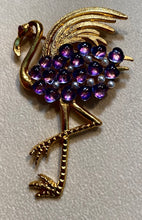 Load image into Gallery viewer, Amethyst, Pearl and Ruby Eye Brooch