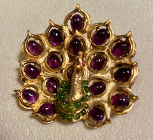 Load image into Gallery viewer, Amethyst, Peridot and Ruby Eyes Brooch