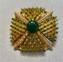 Load image into Gallery viewer, Peridot and Jade Brooch