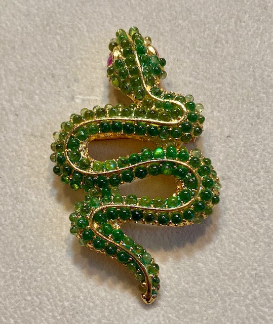 Peridot and Genuine Ruby Eyes Brooch / Pendant