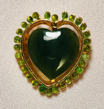 Load image into Gallery viewer, Jade and Peridot Brooch