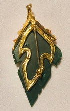 Load image into Gallery viewer, Jade and Carnelian Brooch / Pendant