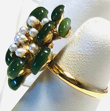 Load image into Gallery viewer, Jade and Pearl Ring