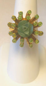Jade and Peridot Ring