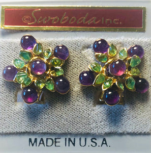 Amethyst and Peridot Earring