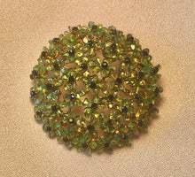 Load image into Gallery viewer, Peridot and Genuine Sapphire Brooch