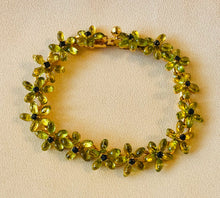 Load image into Gallery viewer, Peridot and Sapphire Bracelet
