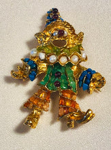 Load image into Gallery viewer, Clown Multi Stone Brooch
