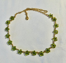 Load image into Gallery viewer, Peridot and Sapphire Necklace