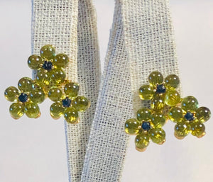 Peridot and Sapphire Earring