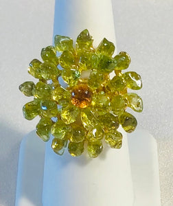 Peridot and Citrine Ring