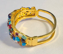 Load image into Gallery viewer, Multi Stone Cuff Bracelet