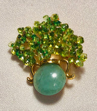 Load image into Gallery viewer, Peridot and Aventurine Brooch