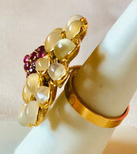 Load image into Gallery viewer, Moonstone and Genuine Ruby Ring