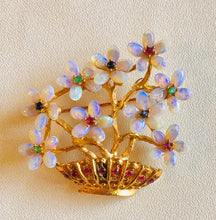 Load image into Gallery viewer, Genuine Opal, Ruby, Emerald and Sapphire Brooch