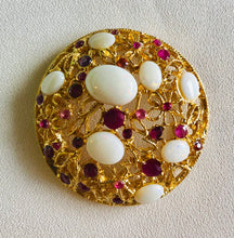 Load image into Gallery viewer, Genuine Opal and Ruby Brooch