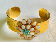 Load image into Gallery viewer, Opal and Turquoise Cuff Bracelet