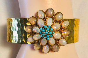 Opal and Turquoise Cuff Bracelet