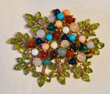 Load image into Gallery viewer, Multi Stone Brooch