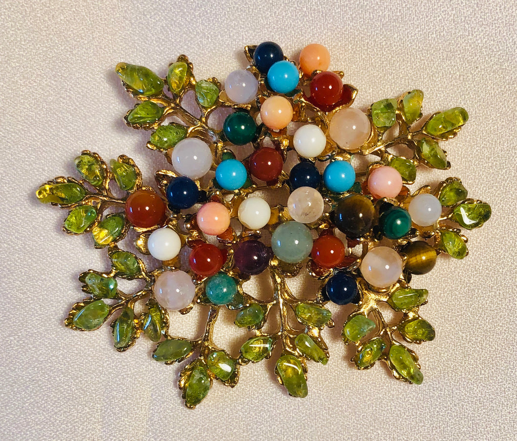 Multi Stone Brooch