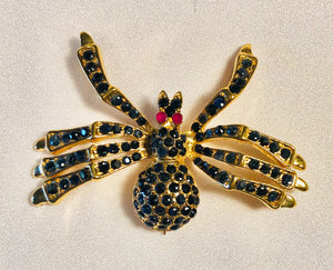 Genuine Sapphire and Ruby Brooch