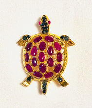 Load image into Gallery viewer, Geniune Ruby and Sapphire Brooch