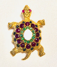 Load image into Gallery viewer, Genuine Ruby, Sapphire, Emerald and Opal Brooch