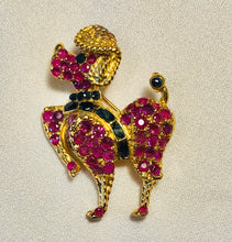 Load image into Gallery viewer, Genuine Ruby and Sapphire Brooch