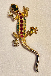 Genuine Ruby and Sapphire Brooch
