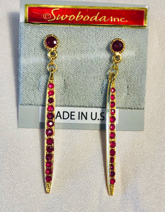 Genuine Ruby Earring