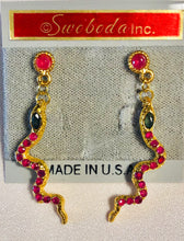 Load image into Gallery viewer, Genuine Ruby and Sapphire Earring
