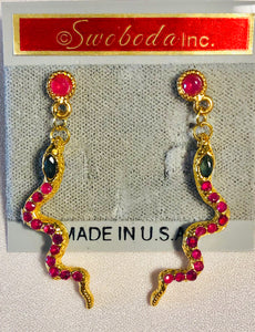 Genuine Ruby and Sapphire Earring