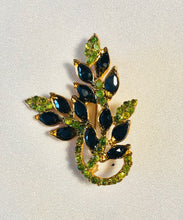 Load image into Gallery viewer, Genuine Sapphire and Peridot Brooch