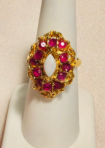 Genuine Ruby and Opal Ring