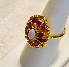 Load image into Gallery viewer, Genuine Ruby and Opal Ring