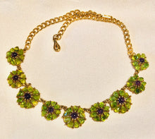 Load image into Gallery viewer, Peridot and Amethyst Necklace