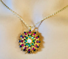 Load image into Gallery viewer, Genuine Sapphire, Ruby, Emerald and Opal Necklace