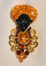 Load image into Gallery viewer, Carnelian, Garnet and Pearl Brooch