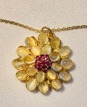 Load image into Gallery viewer, Moonstone and Ruby Necklace