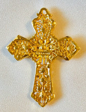 Load image into Gallery viewer, Coral and Garnet Cross Pendant