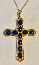 Load image into Gallery viewer, Reversible Garnet, Howlite, Pearl Cross Pendant