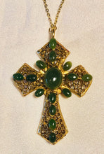 Load image into Gallery viewer, Jade Cross Pendant