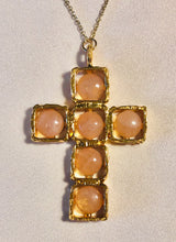 Load image into Gallery viewer, Rose Quartz Cross Pendant