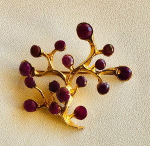 Genuine Ruby Brooch
