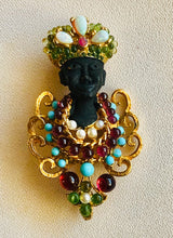 Load image into Gallery viewer, Peridot, Garnet, Turquoise, Pearl and Opal Brooch