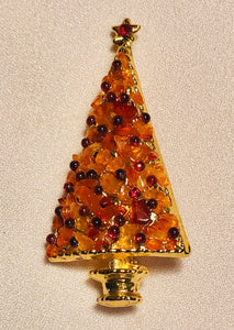 Carnelian and Garnet Brooch