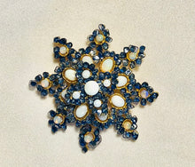 Load image into Gallery viewer, Genuine Sapphire and Opal Brooch