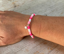 Load image into Gallery viewer, Pink & White bead bracelet