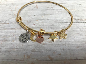 Love you to the Moon... Charm Bracelet