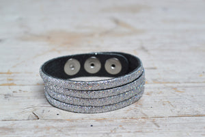 Sparkly Leather Cuffs!